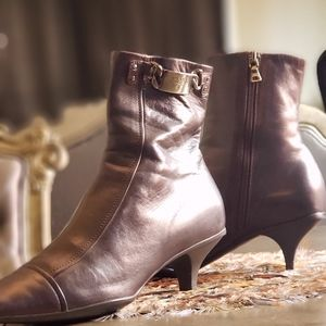 Prada brown leather booties